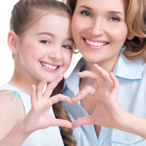 Mother Daughter Heart Shape sign Smaller